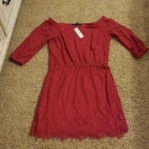 WHBM lace boho off shoulder dress NWT sz 6